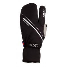 KV+ GLACIER Zweifingerling Handschuh schwarz