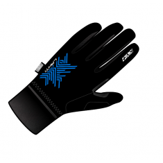 Gloves XC LAHTI pro-wind-tech schwarz, blau
